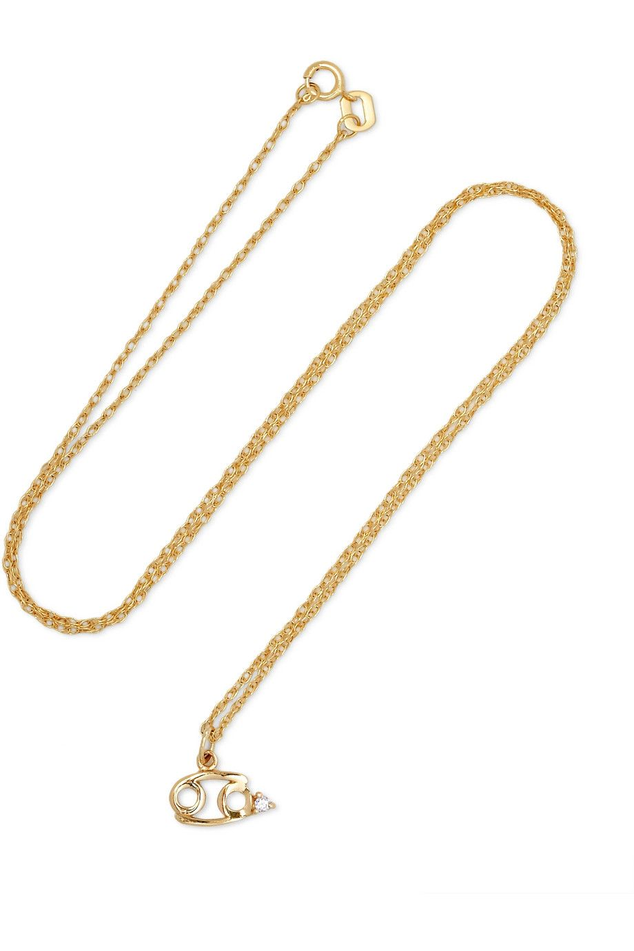 Zodiac 14-karat Gold Diamond Necklace