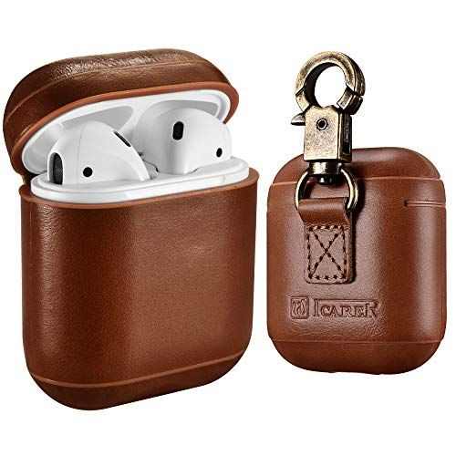 AirPods Leather Case with Strap ICARER amazon.com $19.89 SHOP NOW If your dad can't stop talking about how much he loves his AirPods, make sure he can always keep them safe with this secure leather wrapped keychain.