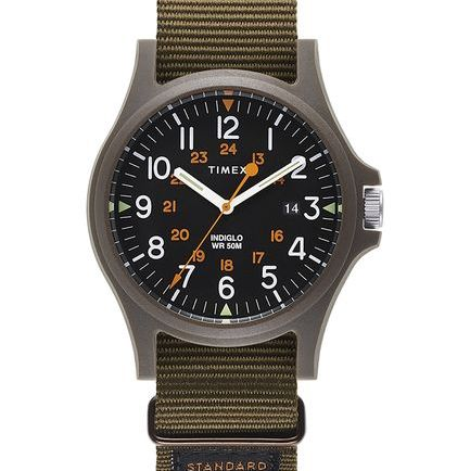 Military Grosgrain Strap Watch Acadia timex.com $85.00 SHOP NOW This ruggedly minimalist watch is the perfect Father's Day gift for any dad who always likes to be on time—and in style.