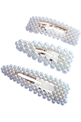 Textention Beaded Hair Barrettes