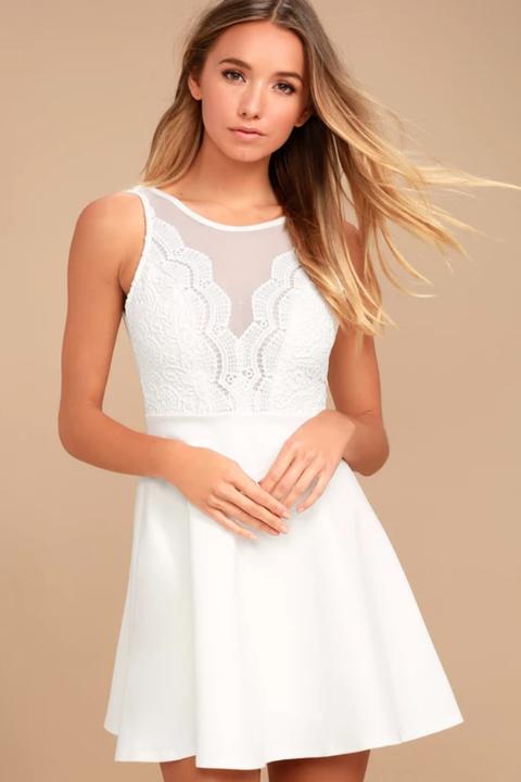 da72807bcc3 10 Cute White Graduation Dresses for Under  100 - Best Cheap Ivory ...