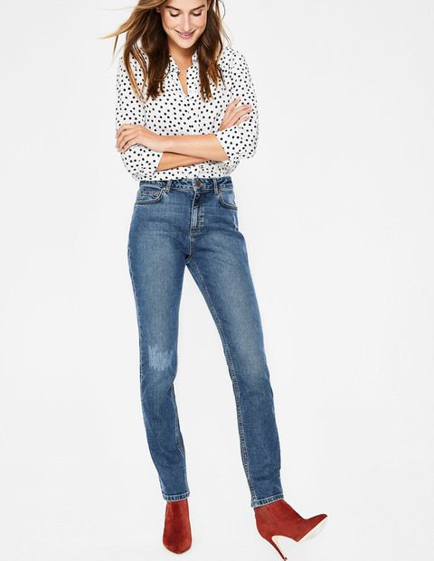 Ladies M/&S Collection Size 12 Regular Mid Rise Ankle Grazer Jeans