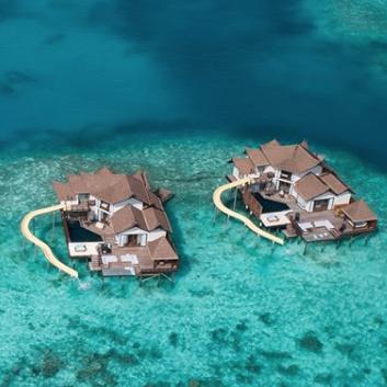 Jumeirah Vittavelli Resort S Villas Feature Massive Slides