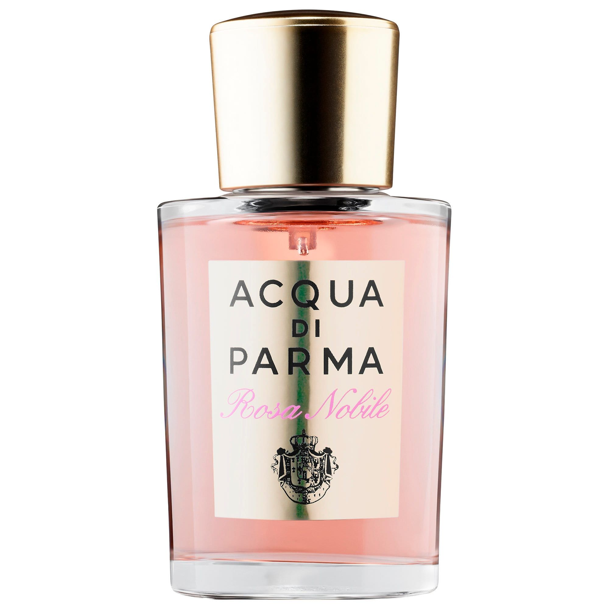 "Acqua Di Parma Rosa Nobile sephora.com $68.00 SHOP NOW What they say: "" The exquisite fragrance opens with soft, vibrant notes of Sicilian mandarin and Calabrian bergamot. The heart reveals velvety accents of peony, violet, and lily of the valley, which perfectly complement the richness of the centifolia rose from Italy."" What we say: When you want to cosplay as Belle—before she meets the Beast."