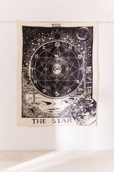 A Star Tarot Tapestry Urban Outfitters $34.00 SHOP IT If she's moving into a new apartment , give her the perfect tool to reimagine her home with this star tarot tapestry.