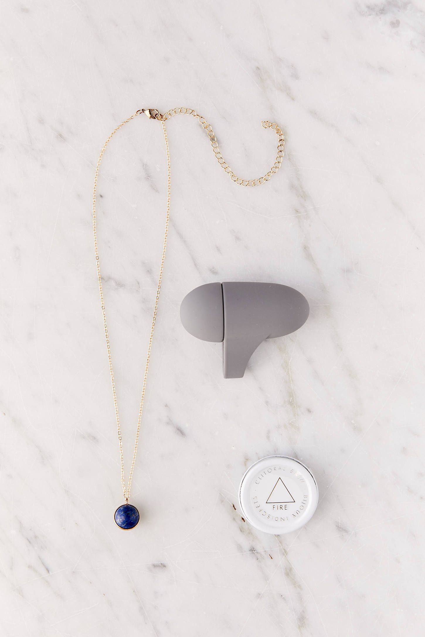 Mini Horoscope Gift Set Bijoux Indiscrets Urban Outfitters $40.00 SHOP IT Feel connected to your inner self with this special horoscope-inspired gift set featuring a petite vibrator, a personalized gemstone necklace, and a gentle warming balm. She'll thank you later.
