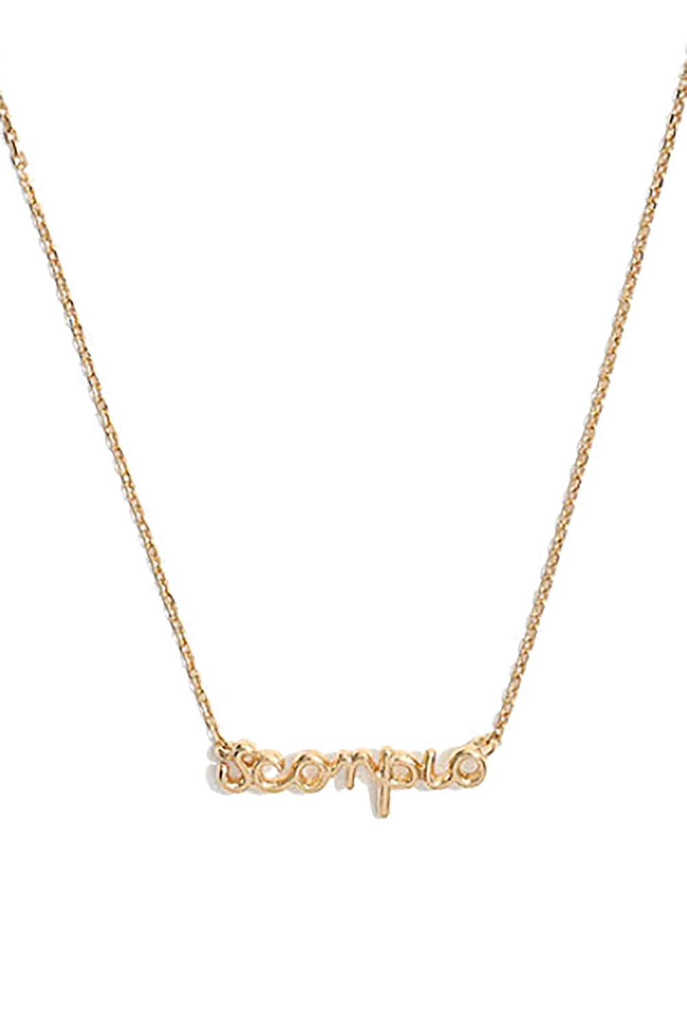 Vermeil Astrological Sign Necklace Madewell $78.00 SHOP IT When you're proud of your sign and you want everyone to know it, put on this sterling silver necklace. It's also available for your Leo friends because...well...you know.
