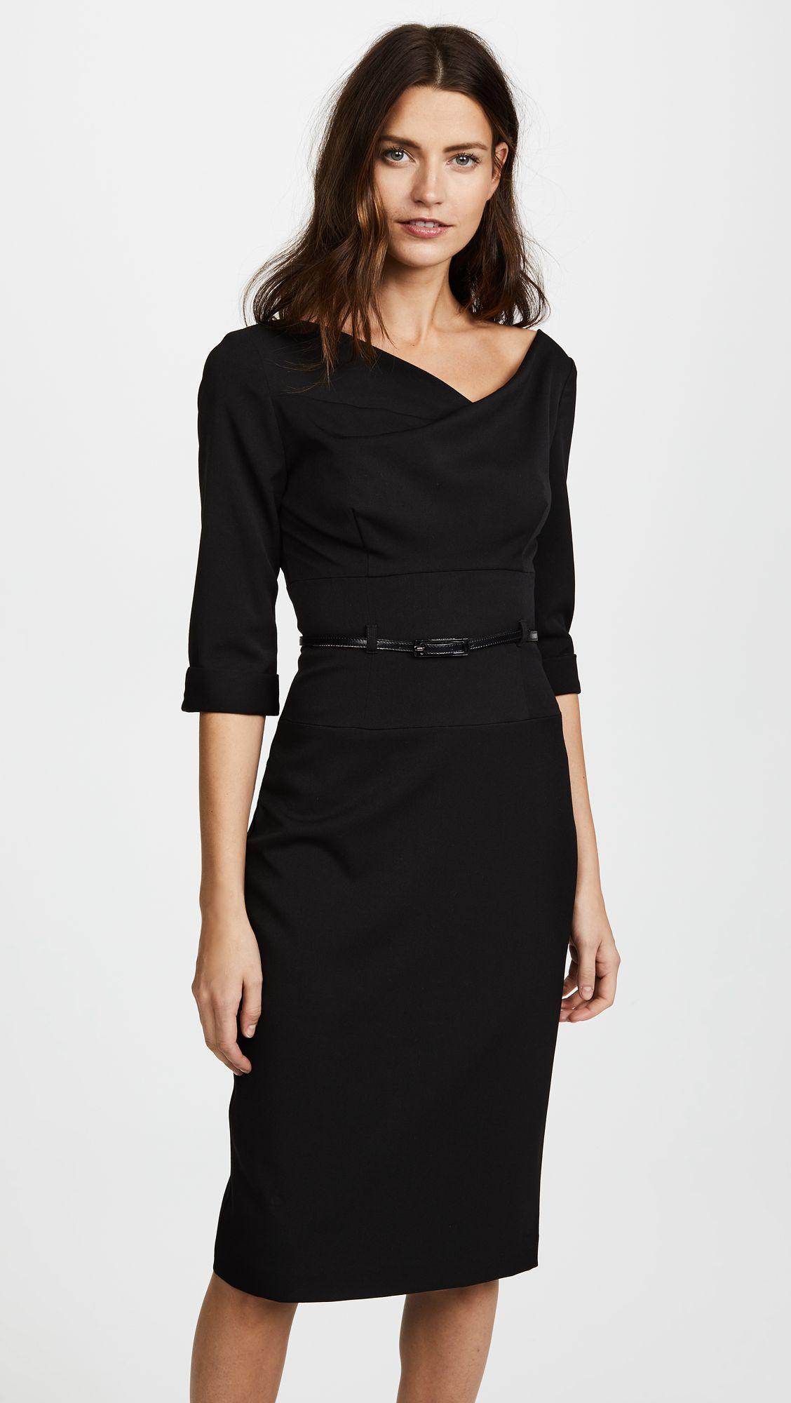 3/4 Sleeve Jackie O Dress