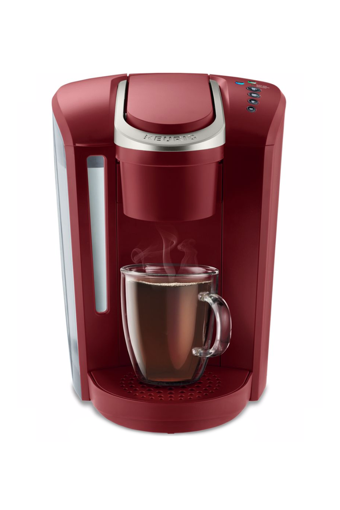 A Vintage Red Keurig Keurig Amazon $124.99 SHOP IT Since she's always the first one up in the mornings, she can take a little time for herself with this single-size serve coffee maker. The strong brew button increases the coffee's strength and intensity (depending on how tired she is), while the 52-ounce water reservoir means she can brew enough for the whole family before refilling.