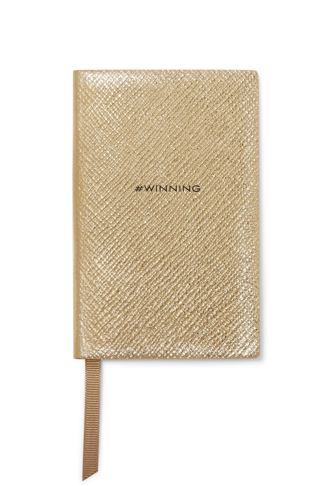 A Journal Smythson Net-a-Porter $60.00 SHOP IT Moms lead very busy lives; help her stay focused and organized with this gold journal. Mothers are always winners in our book, so the hashtag on the front is appropriate.