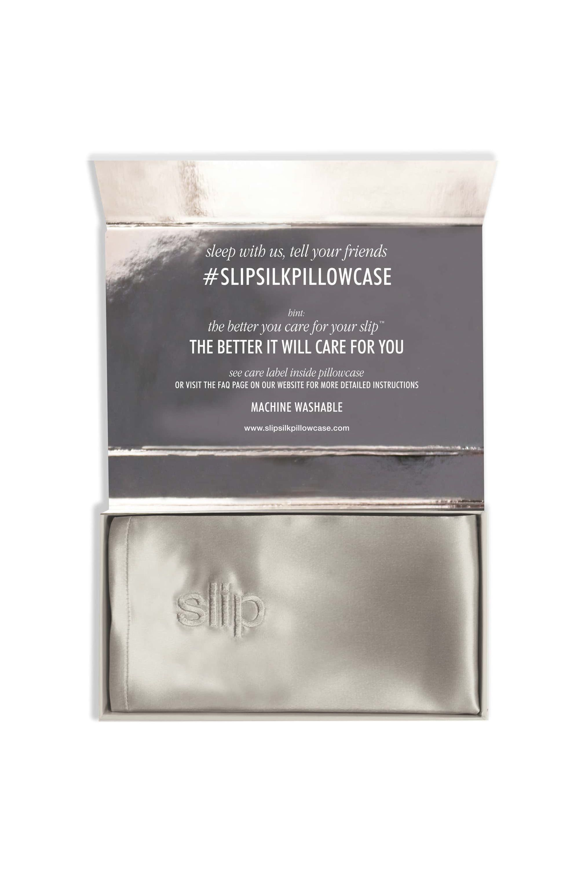 A Silk Pillowcase Slip Nordstrom $85.00 SHOP IT Even if she doesn't get eight hours of sleep every night, she can still benefit from sleeping on a silk pillowcase. This anti-aging, anti-crease, anti-bed-head pillow case by Slip is like a beauty treatment and a sleep aid in one.