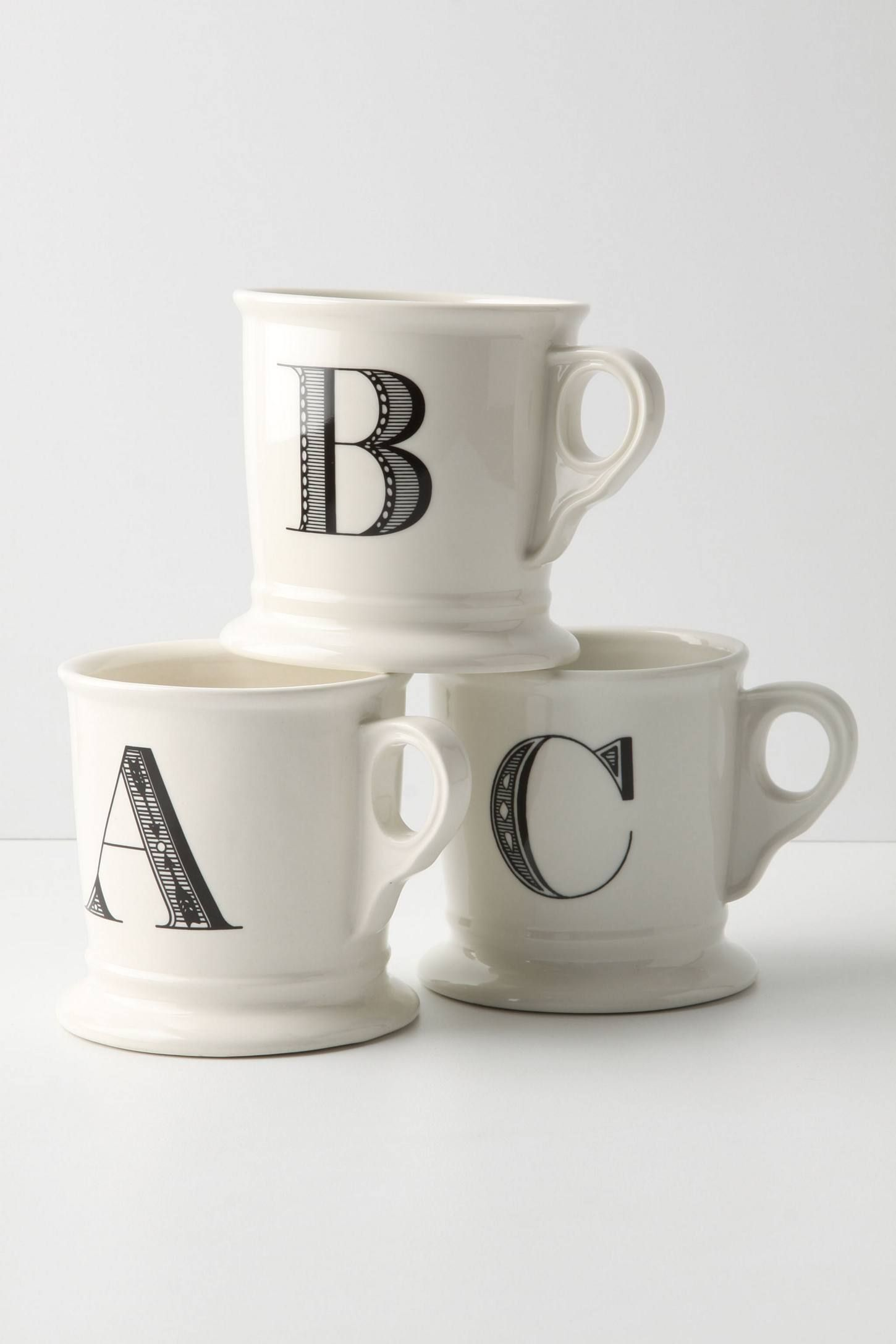 A Monogrammed Mug Anthropologie $8.00 SHOP IT Top off her morning coffee routine with this beautiful monogrammed mug. If you're feeling generous, consider getting yourself, and everyone else in your family, cups too.