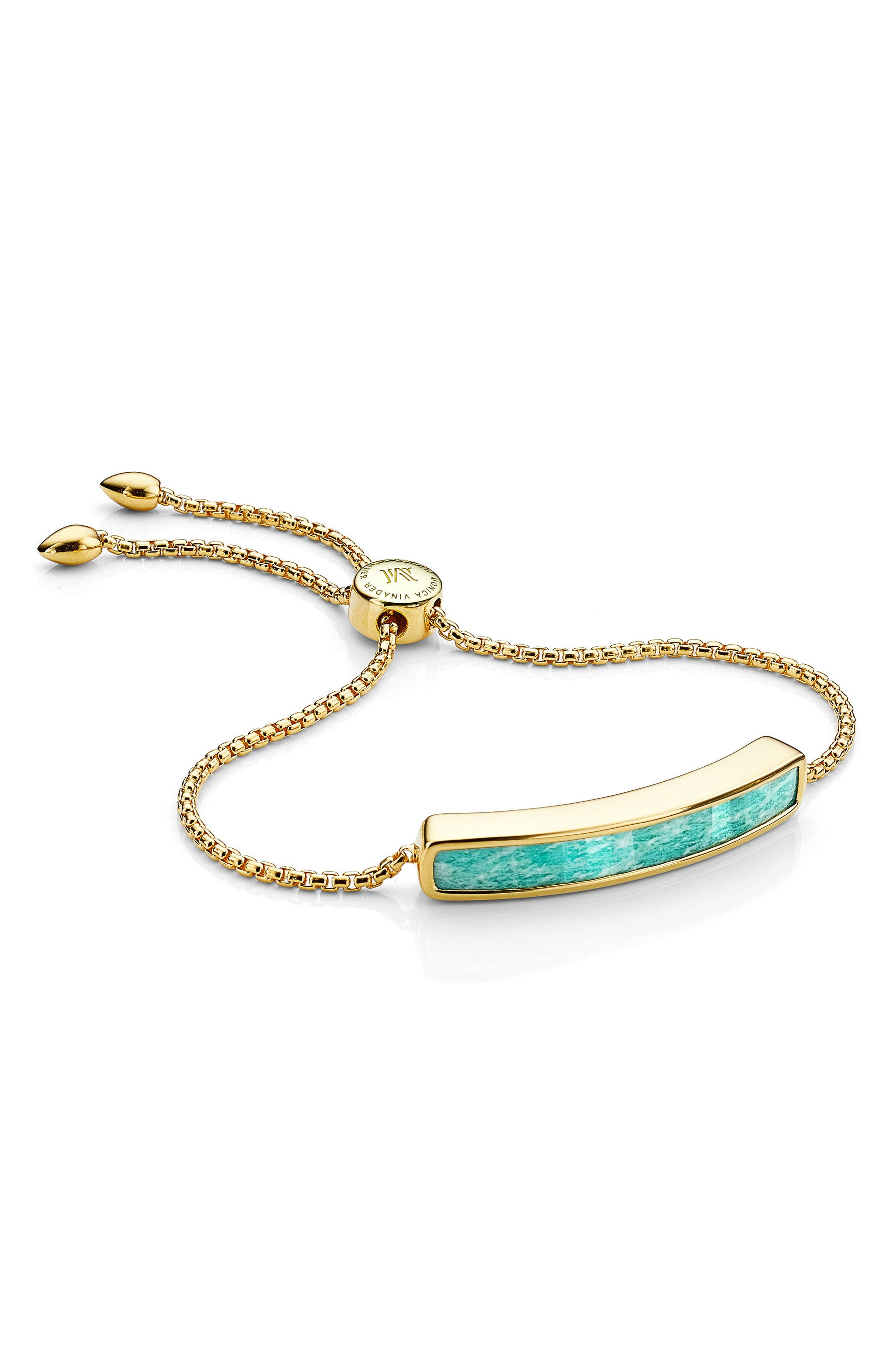 A Stone Bracelet MONICA VINADER Nordstrom $350.00 SHOP IT This art deco-inspired bracelet is great for layering with her other favorite pieces. It's adjustable to suit all wrist sizes and comes with a pretty geometric stone as its center piece.