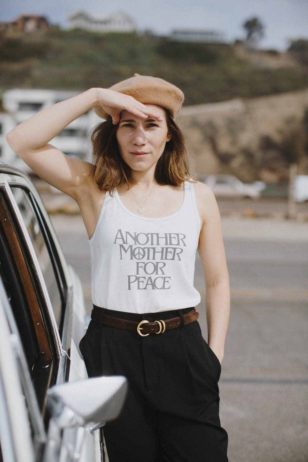 """""""Another Mother for Peace"""" Tank The Bee and the Fox $33.00 SHOP IT Now through Mother's Day, 100 percent of the proceeds from this cute """"Another Mother for Peace"""" tank will go directly to Moms Demand Action —a grassroots organization part of the Everytown network fighting to end gun violence."""