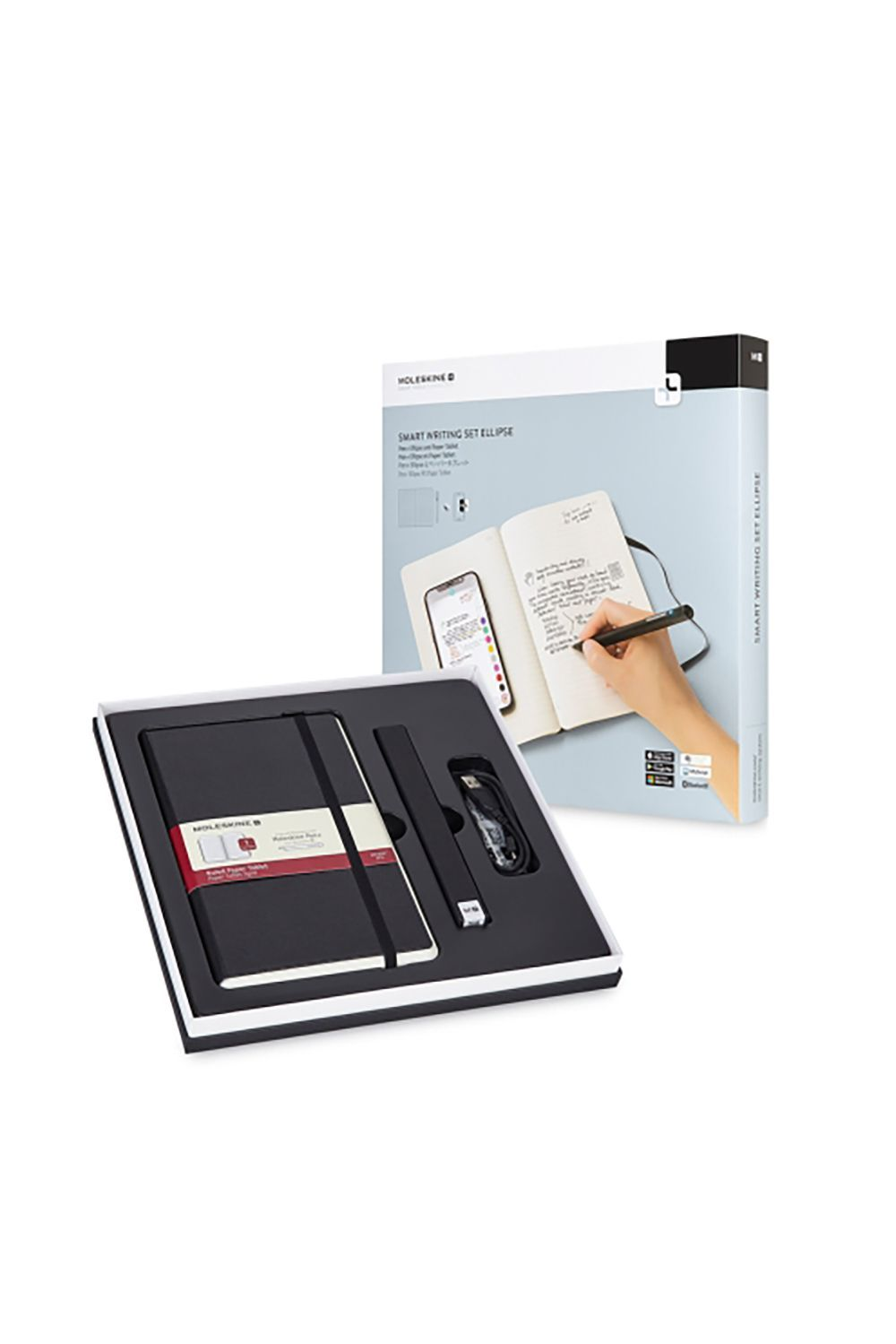 A Smart Writing Set Moleskine $199.00 SHOP IT Traditional mothers who still write their to-do lists down on sticky notepads will have their lives changed (in the best way) with Moleskine's smart writing set. All she has to do is download the Moleskine Notes App, then watch her handwritten notes get transferred to her phone in real time.