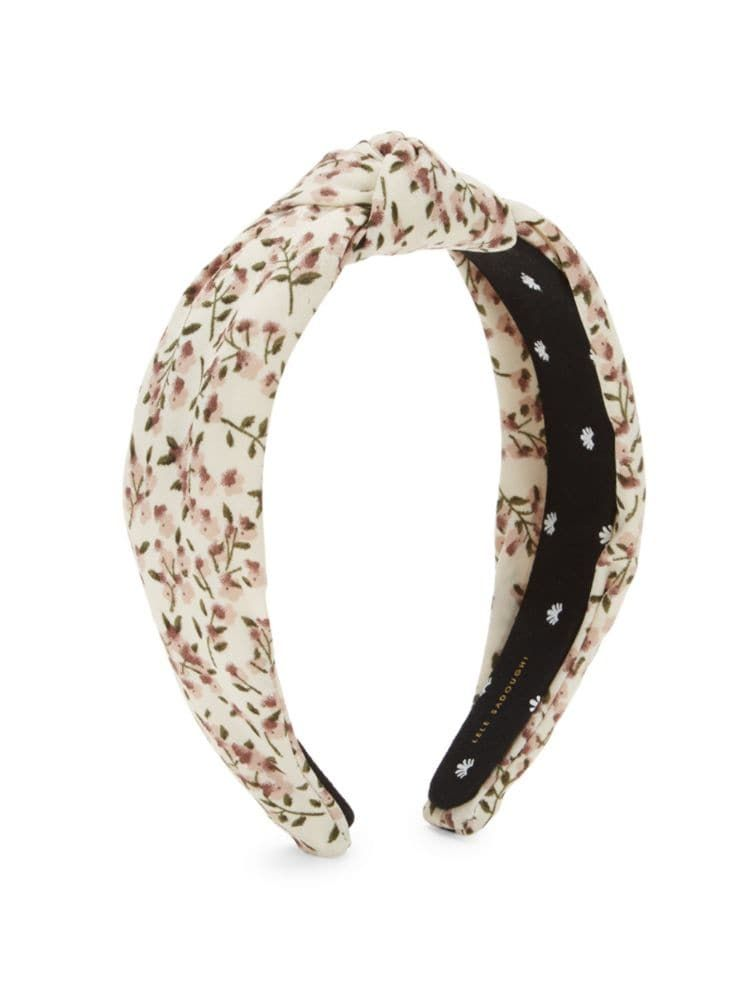 Knotted Floral Headband Lele Sadoughi saksfifthavenue.com $65.00 SHOP NOW A chic headband like this floral print style by Lele Sedoughi will make Mom look instantly put together even if she hasn't had time to wash her hair in, um, a while. A busy mother of two who heads up the jewelry department at J.Crew and Tory Burch (wow), Sedoughi knows easy-to wear-accessories are a mom's best friend.