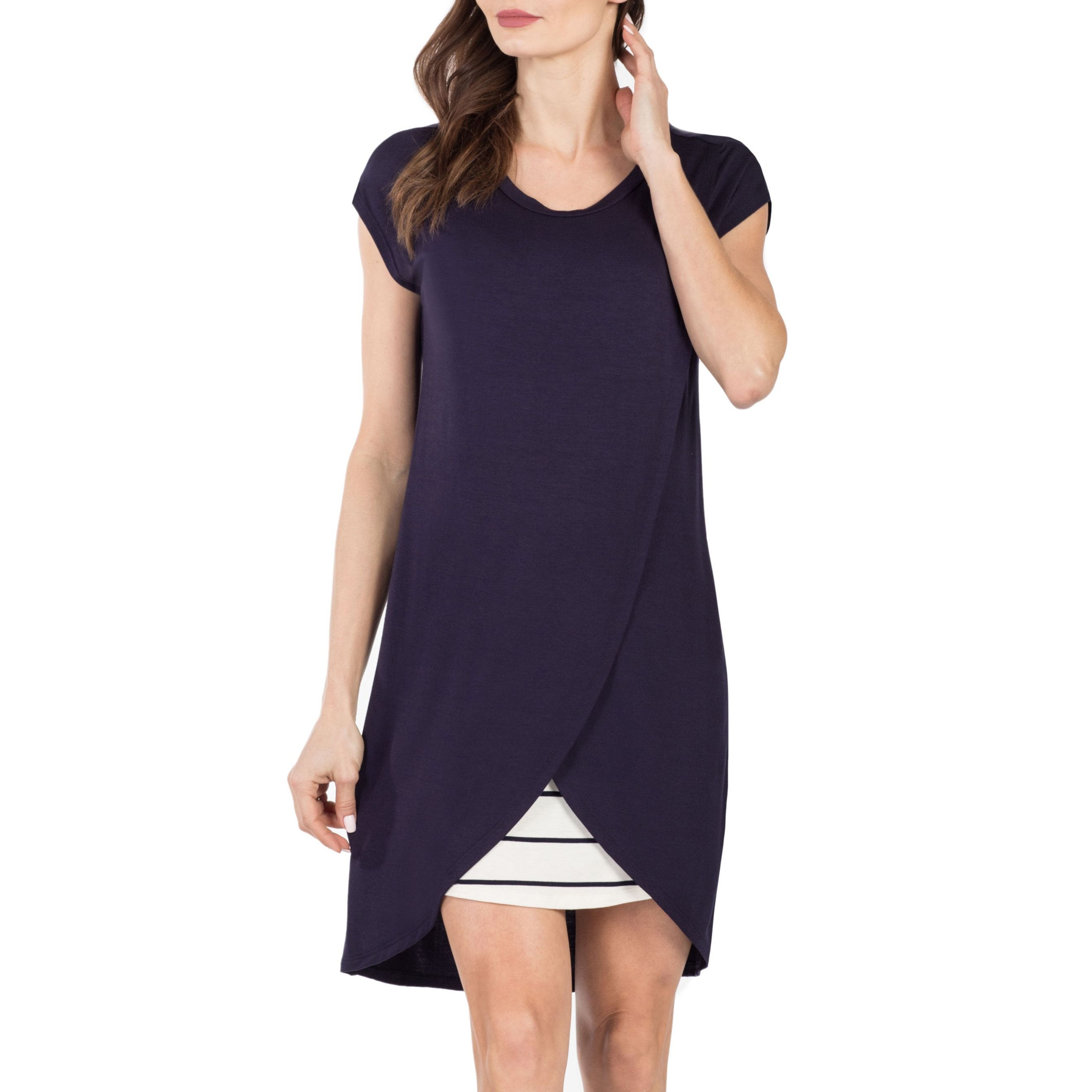 Lille Layered Sheath Dress SAVI MOM nordstrom.com $49.00 SHOP NOW This modern twist on a classic sheath dress is super flattering for new moms and even has hidden nursing panels for her convenience. She can wear it anywhere, anytime—so major score.