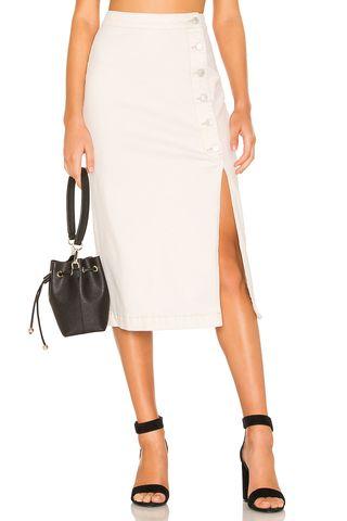 Jasmine Buttoned Midi Skirt
