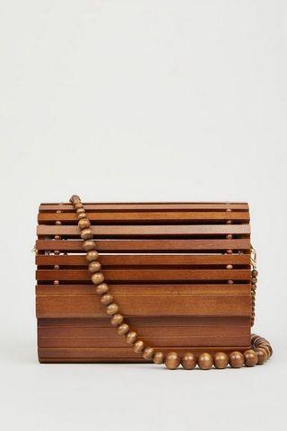 Look sac en bois à lattes marron foncé