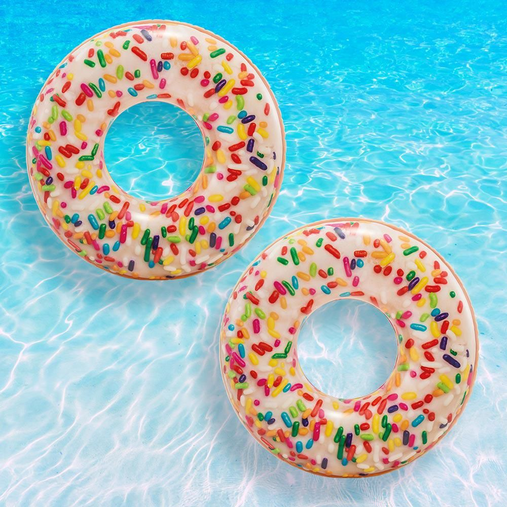 Intex Sprinkle Donut Tube Pool Float, 2 Pack