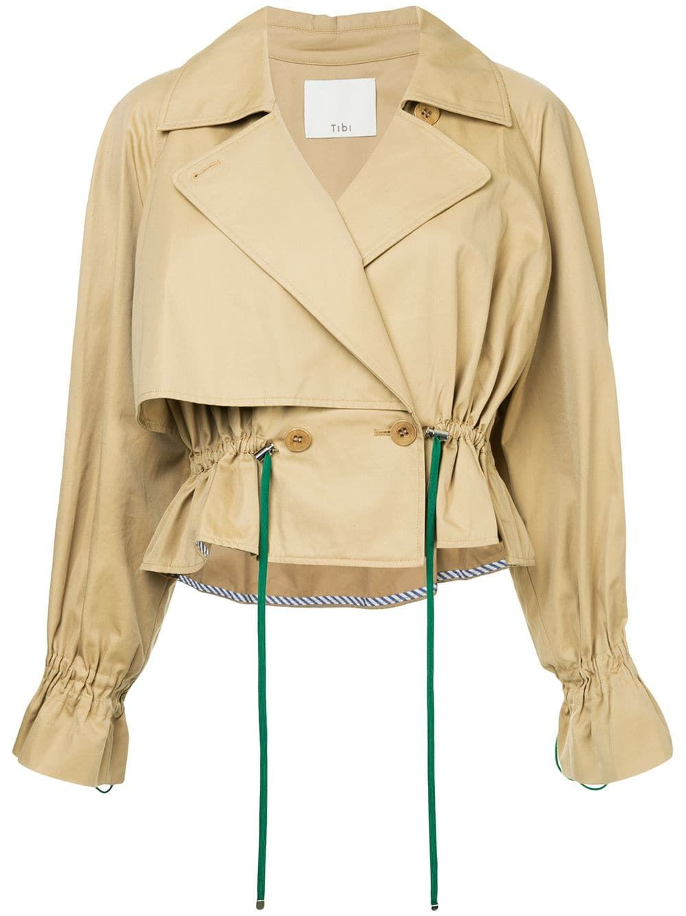 Cropped Trench Coat Tibi farfetch.com $686.79 SHOP NOW Not all trench coats are created equal—take this style with green drawstrings and cropped silhouette as an example. So good.