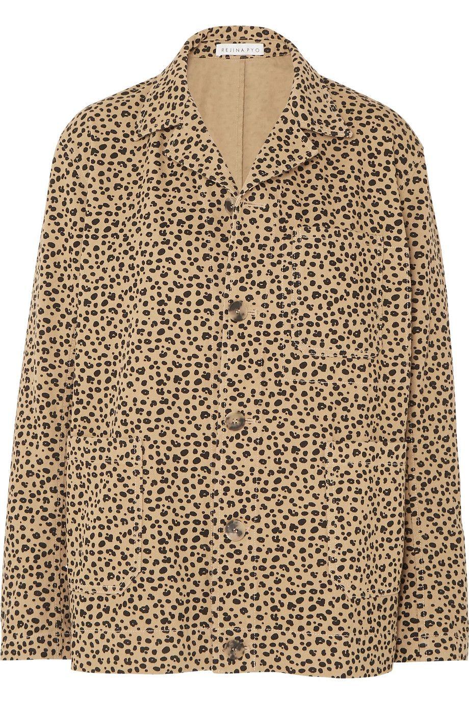 Billie Leopard-Print Cotton-Twill j=Jacket Rejina Pyo net-a-porter.com $650.00 SHOP NOW Swap out your denim jacket for a twill leopard version instead.