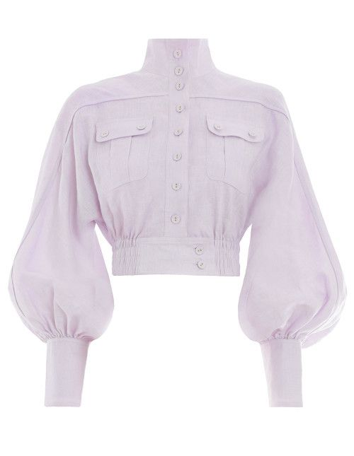 Ninety-Six Racer Jacket Zimmerman zimmermannwear.com $850.00 SHOP NOW If your style skews ultra feminine, voluminous sleeves and a lavender hue are a fresh take on the utility trend.