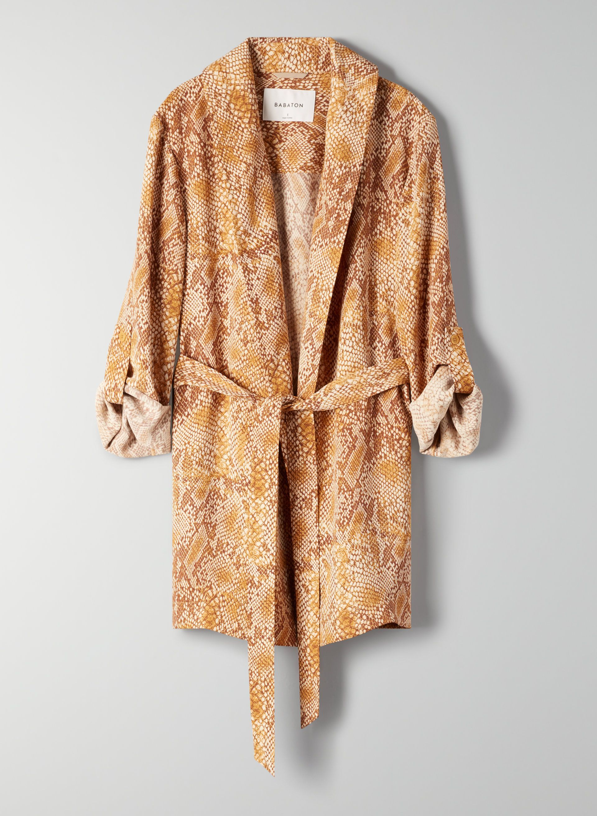 Kahlo Robe Babaton aritzia.com $178.00 SHOP NOW A snake print robe can be a punchy layer for neutral lovers.
