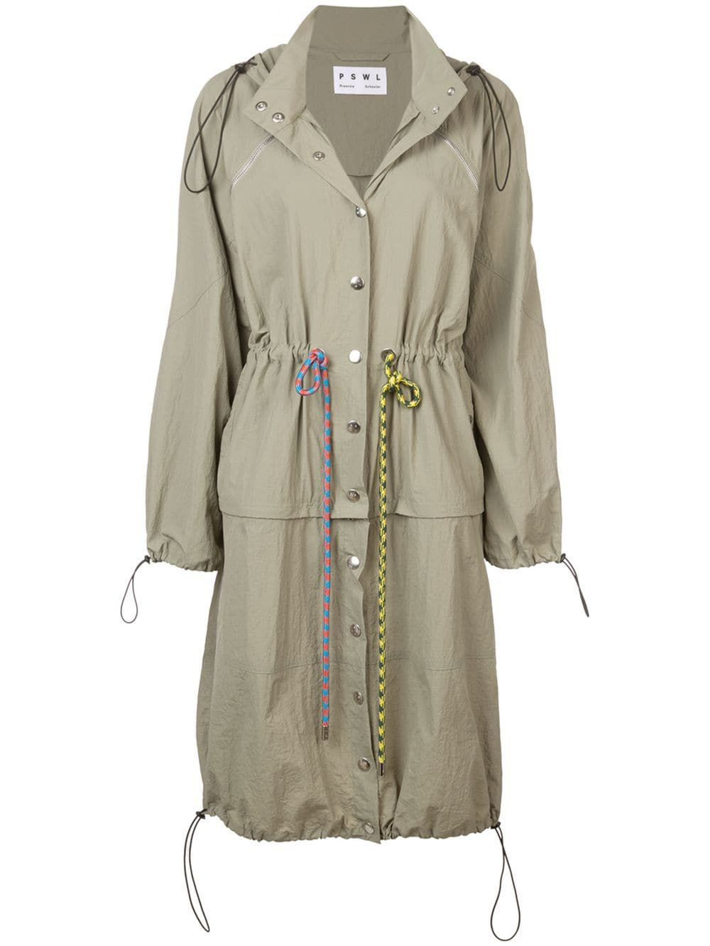 Proenza Schouler PSWL Drawstring Coat Proenza Schouler PSWL shopbop.com $550.00 SHOP NOW Colorful drawstrings give this army green anorak a playful feel.
