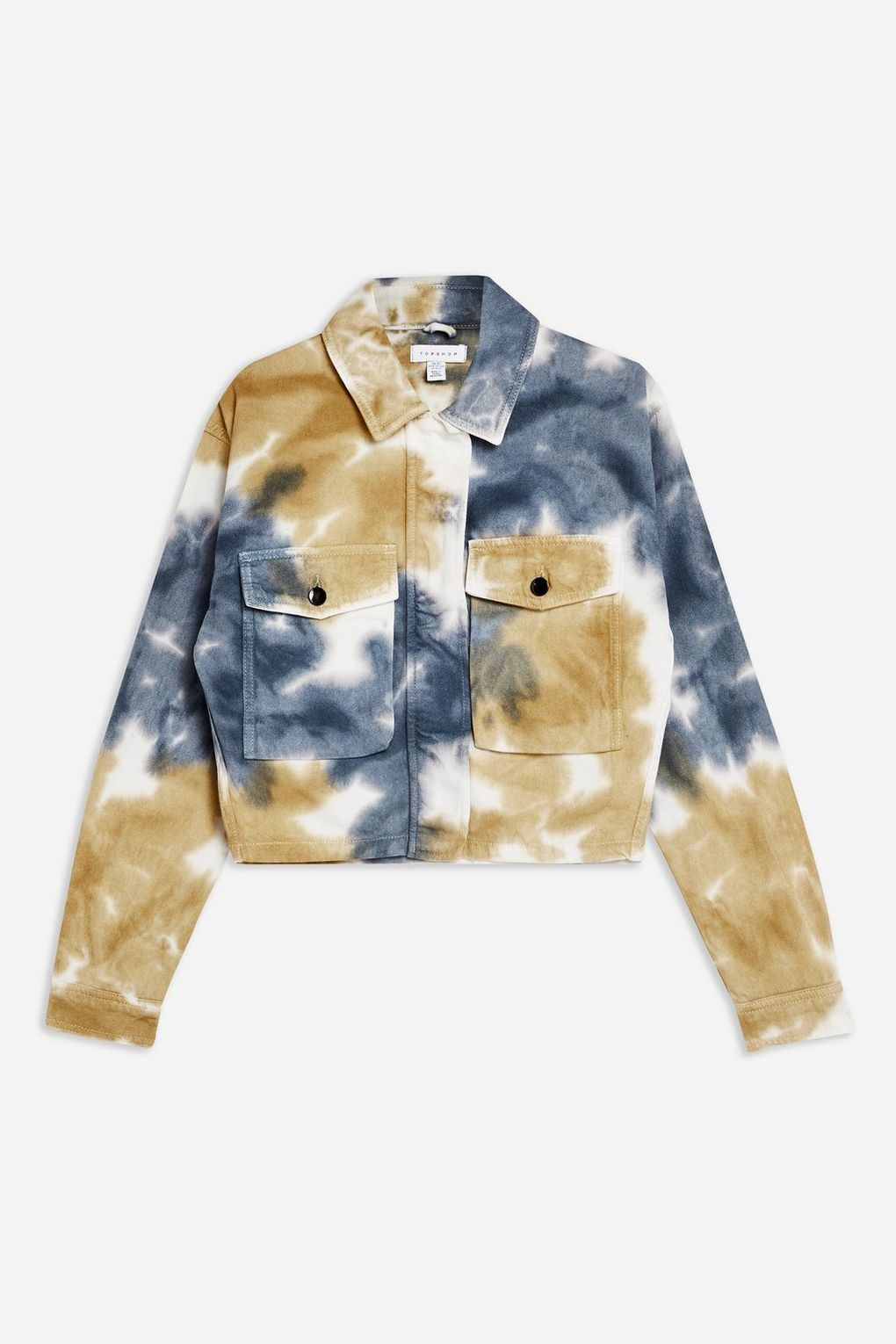 Tie Dye Shacket Top Shop topshop.com $75.00 SHOP NOW Test drive the tie-dye trend with this hip-skimming jacket.