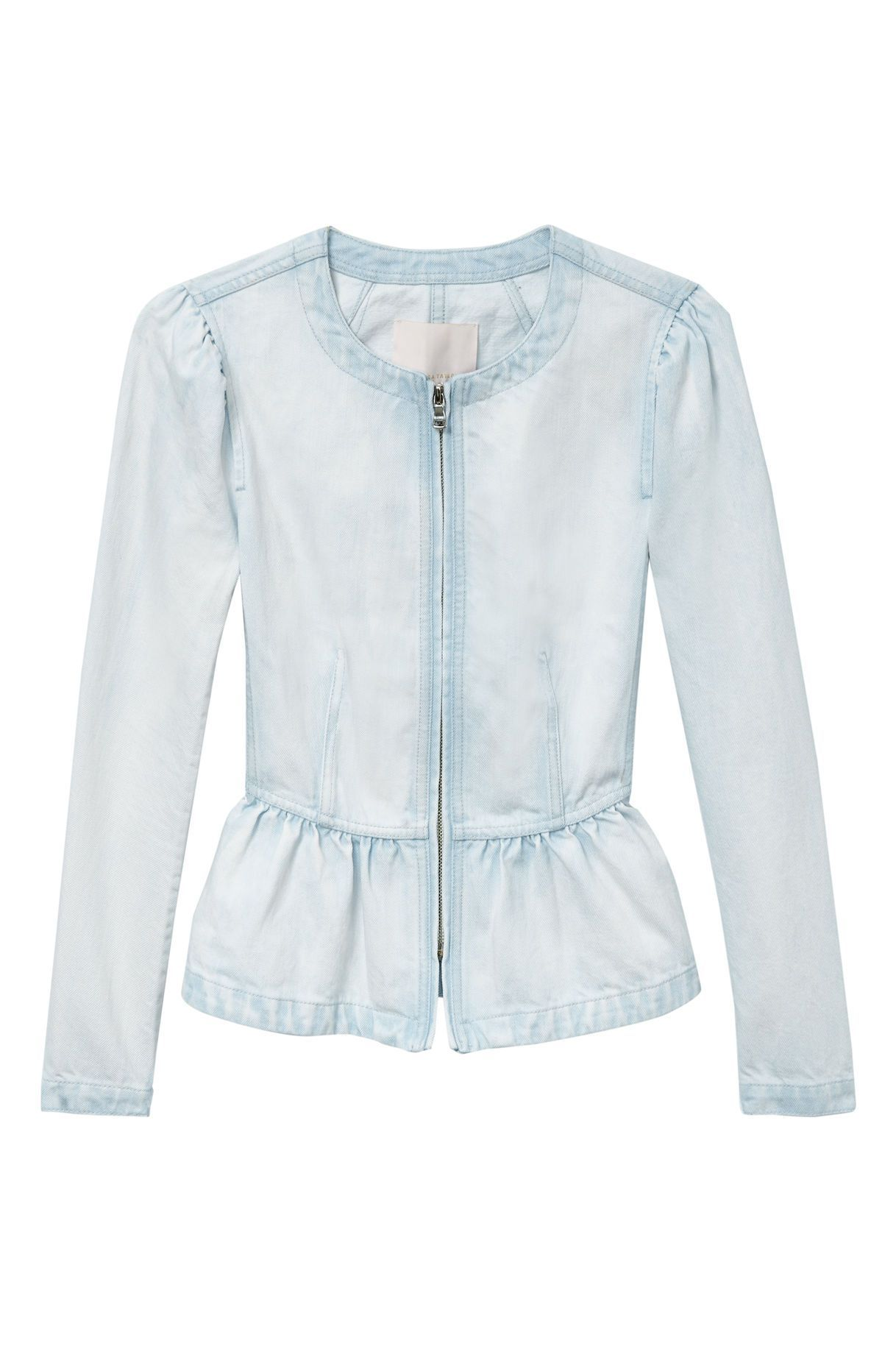 Denim Peplum Jacket rebeccataylor.com $375.00 SHOP NOW This Victorian-inspired denim jacket is perfect for the office.