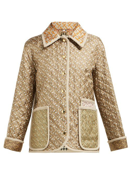 Monogram-Print Single-Breasted Quilted Silk Jacket Burberry matchesfashion.com $2,390.00 SHOP NOW Imagine this option with blue jeans and fresh kicks. It will be your weekend go-to.