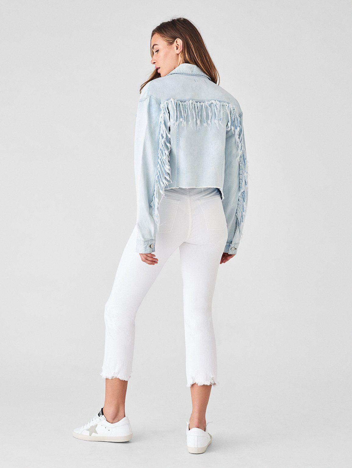 4b8ee35c0f41e4 18 Cute Denim Jacket Outfits for Women - Best Jean Jackets 2019