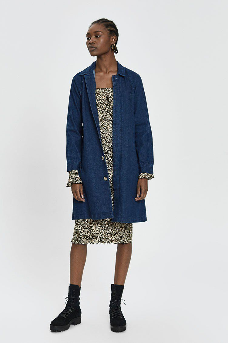 Editor's Choice Ilonna Long Denim Jacket Need Supply Co.