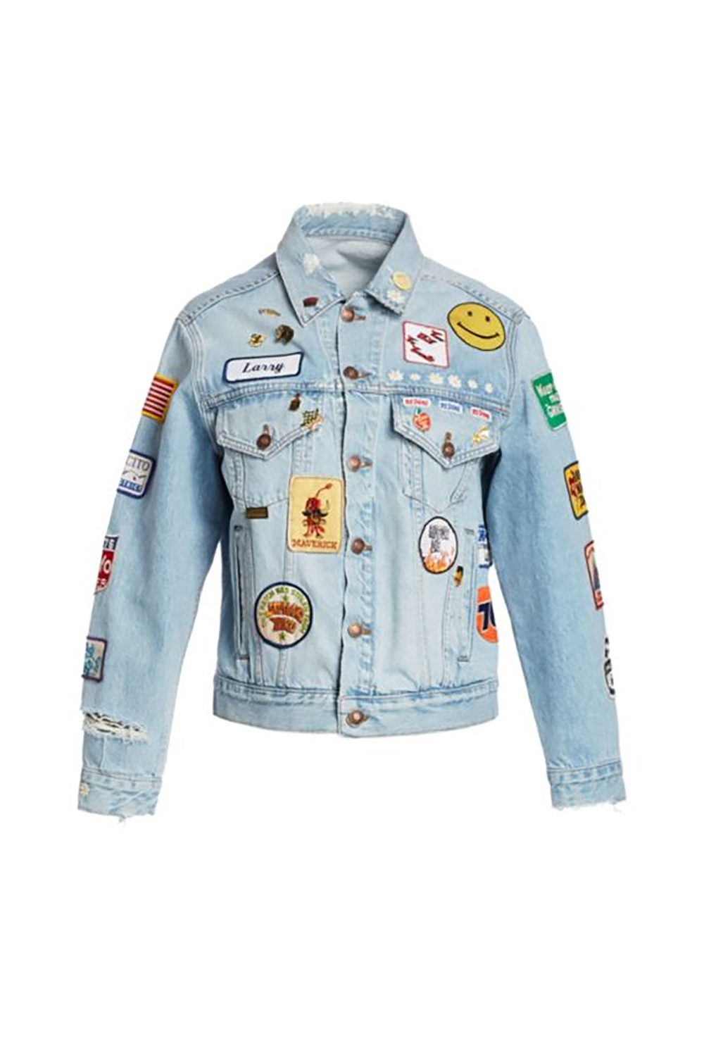 Oversized Patch Trucker Jean Jacket