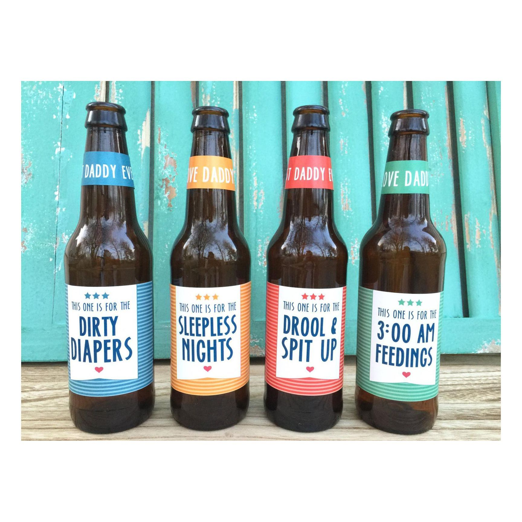 First Time Dad Beer Bottle Labels
