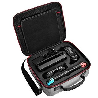 Nintendo Switch Case, Diocall Deluxe Carry Case Fit Nintendo Switch System and Pro Controller, Grey