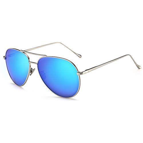669f3b5924 Best for all face shapes  SUNGAIT. Lightweight Oversized Aviator Sunglasses