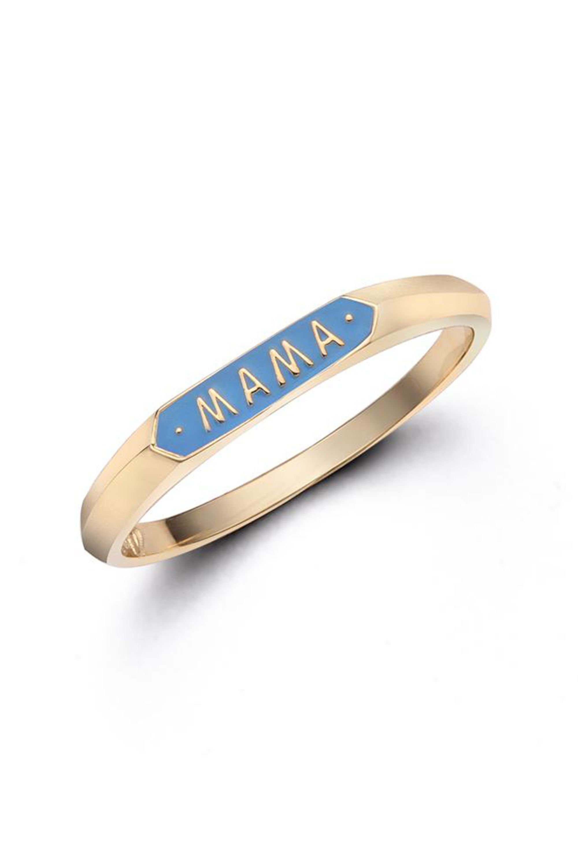 "Mama Signet Ring Nora Kogan norakogan.com $310.00 SHOP NOW ""Mom"" jewelry can get a little cheesy, but this enamel ring makes it playfully chic."