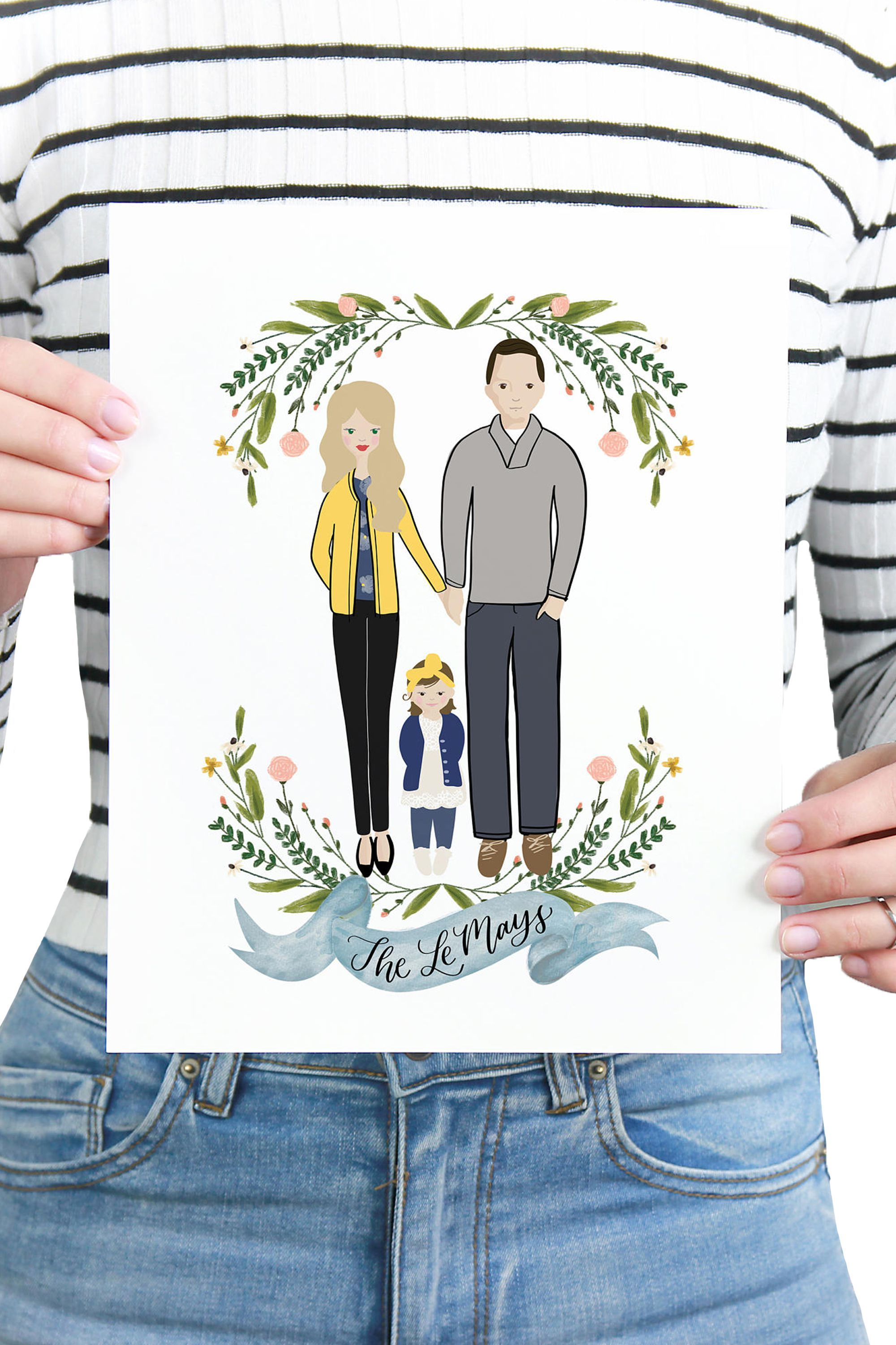 Custom Portrait PrintableWisdom etsy.com $50.00 SHOP NOW Nothing gets more personal than this. Commission an Etsy artist for a portrait of the parents to commemorate their pre-baby journey.