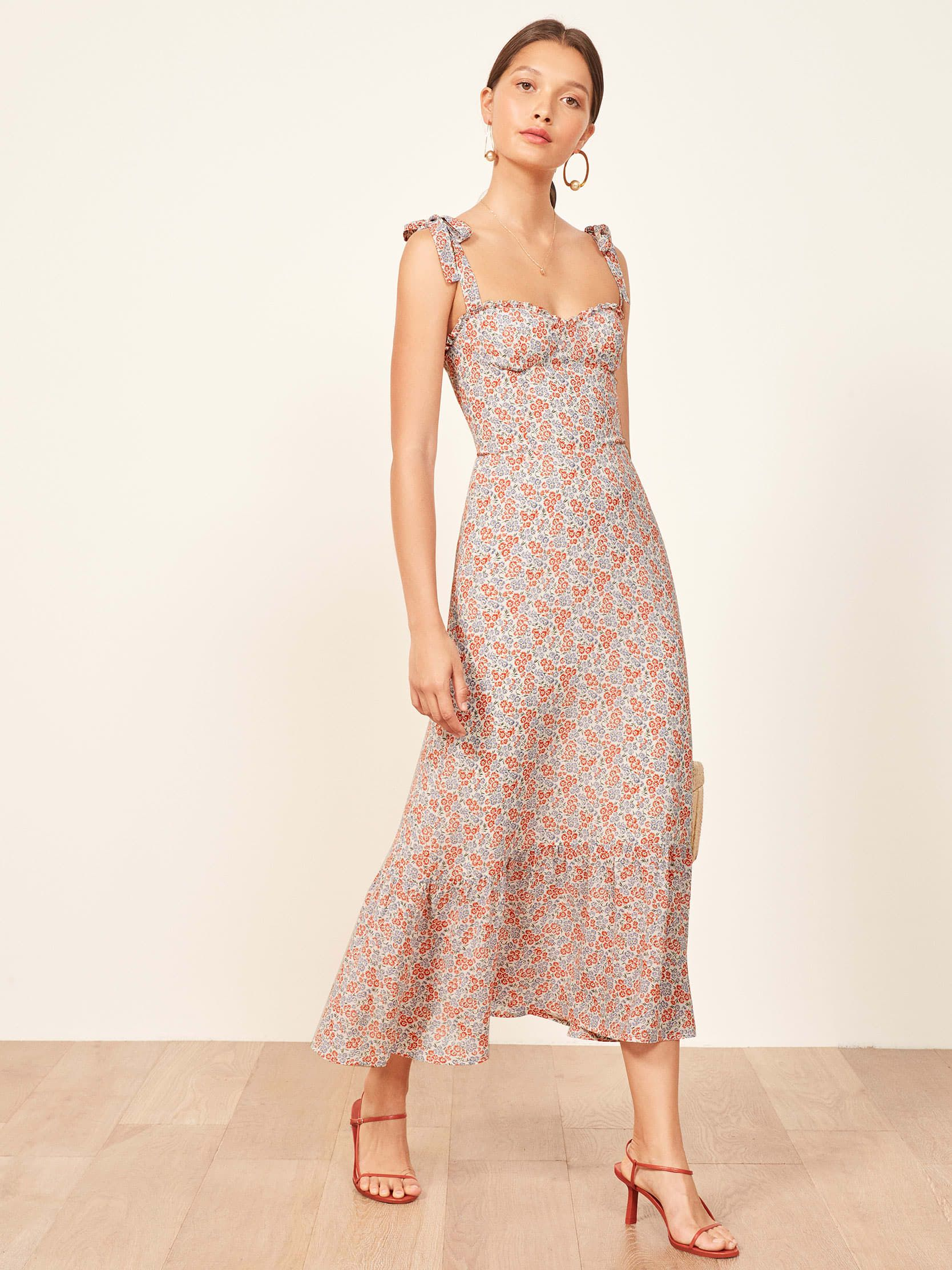 Nikita Dress thereformation.com $248.00 SHOP NOW Reformation has become known for melding cool-girl style with sustainability. When you click on any item on the Reformation site, there's a breakdown of its environmental impact, ensuring shoppers feel great about the items they purchase.