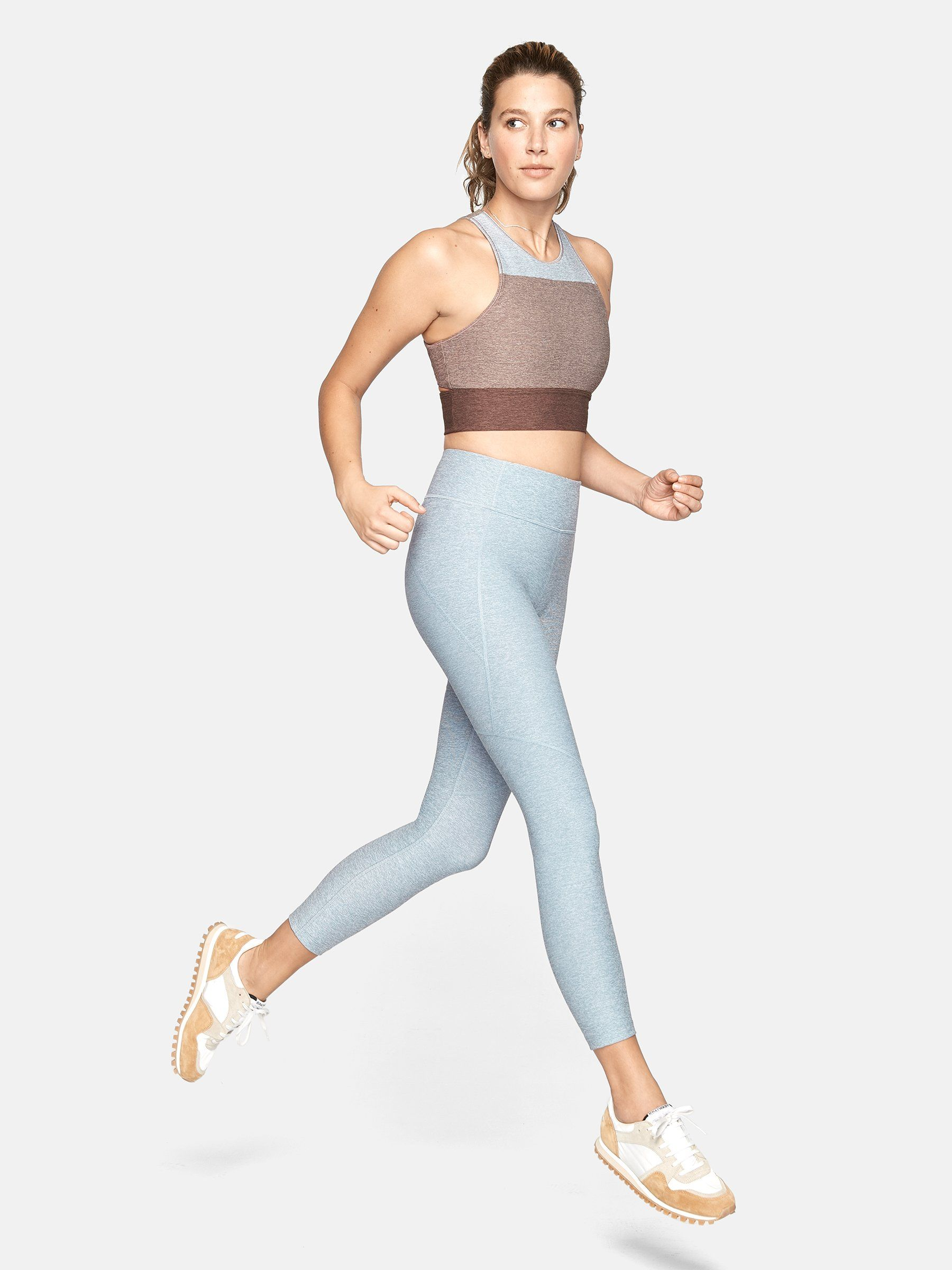 """3/4 Warmup Leggings Outdoor Voices outdoorvoices.com $75.00 SHOP NOW According to the brand, Outdoor Voices uses recycled polyester and used water bottles to create its breathable activewear, keeping """"OV in your gym bag and out of landfills."""""""