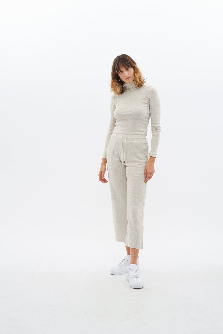 Culotte Sweatpants Kotn kotn.com $48.00 SHOP NOW Kotn is completely transparent with its sustainable practices. The brand's site details where and how they source its trademark Egyptian cotton, the people creating each item, and its charitable contributions.