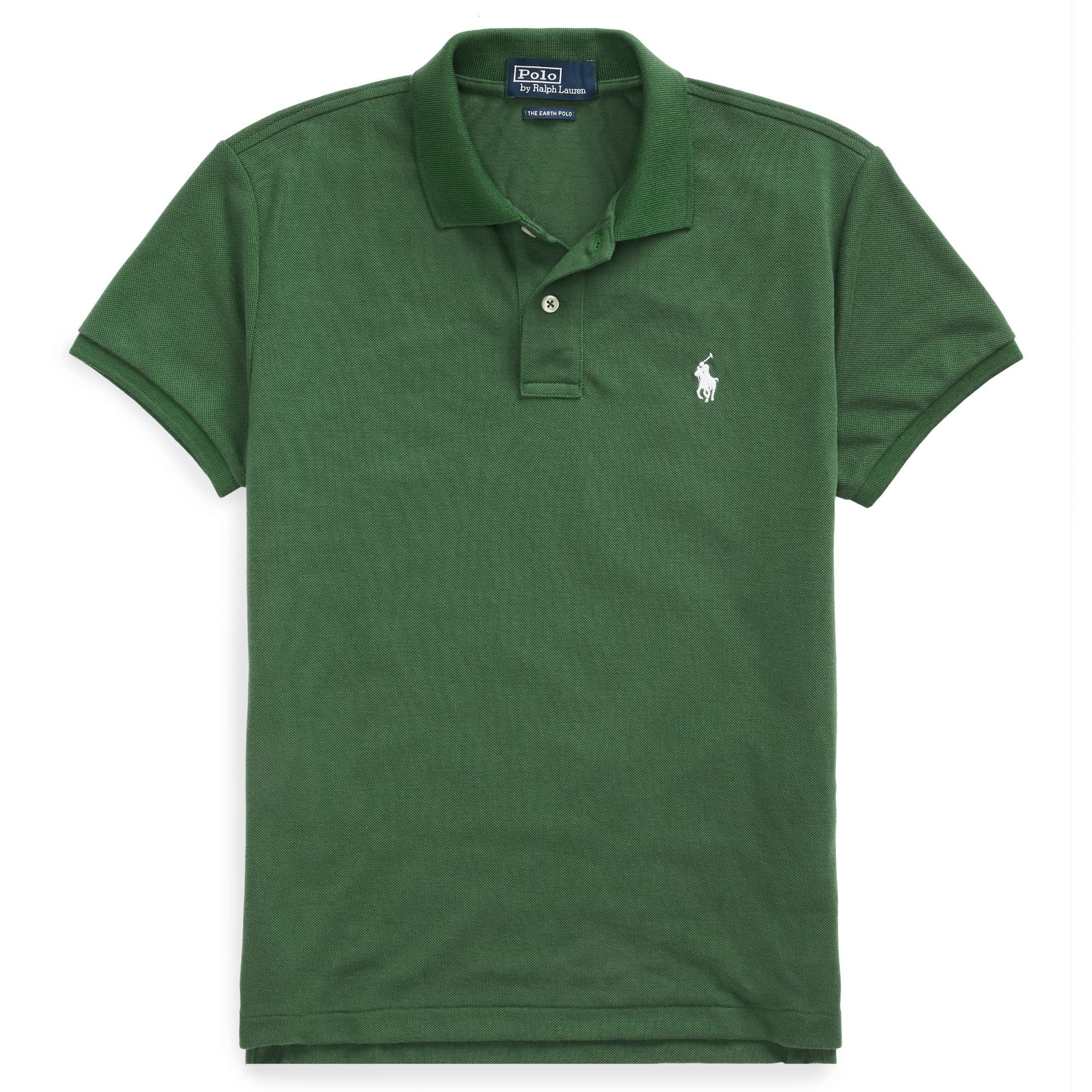The Earth Polo Polo Ralph Lauren ralphlauren.com $89.50 SHOP NOW This year Polo Ralph Lauren launched an eco-friendly iteration of its iconic silhouette. The Earth Polo is made entirely of recycled water bottles and comes in a small assortment of colors, including green, white, and blue.