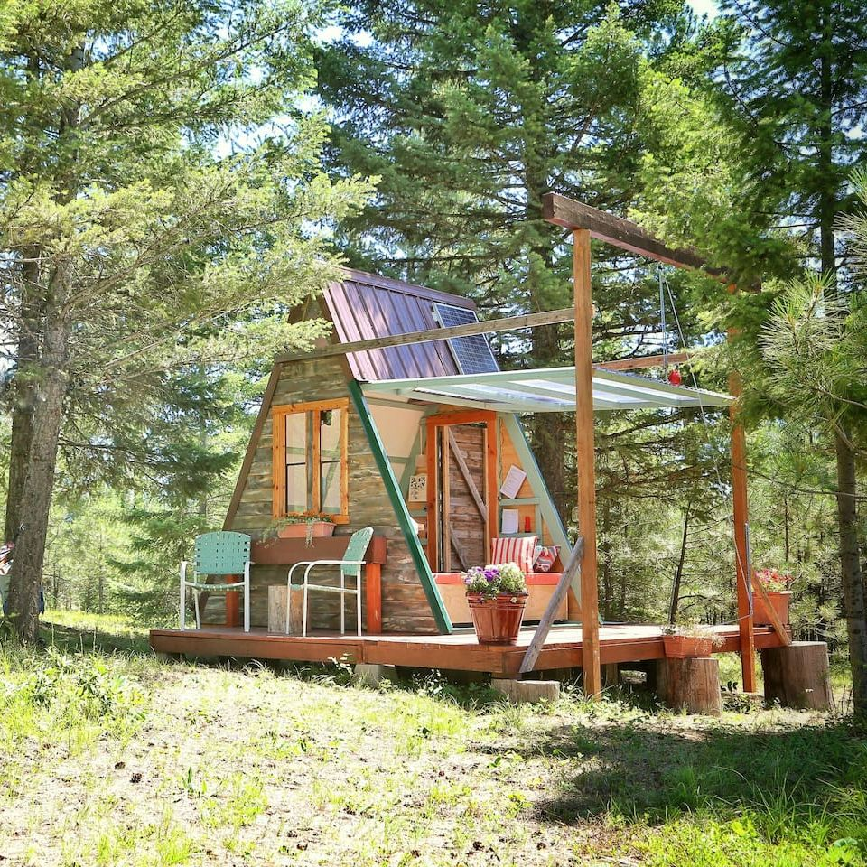 Cheap Cabins To Build Yourself Inexpensive Small Cabin: Cheap Tiny House: This Tiny A-Frame Cabin Cost Just $700