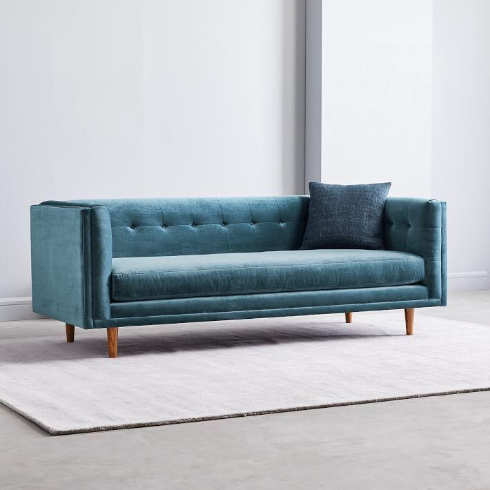 Outstanding Bradford Blue Velvet Sofa Creativecarmelina Interior Chair Design Creativecarmelinacom