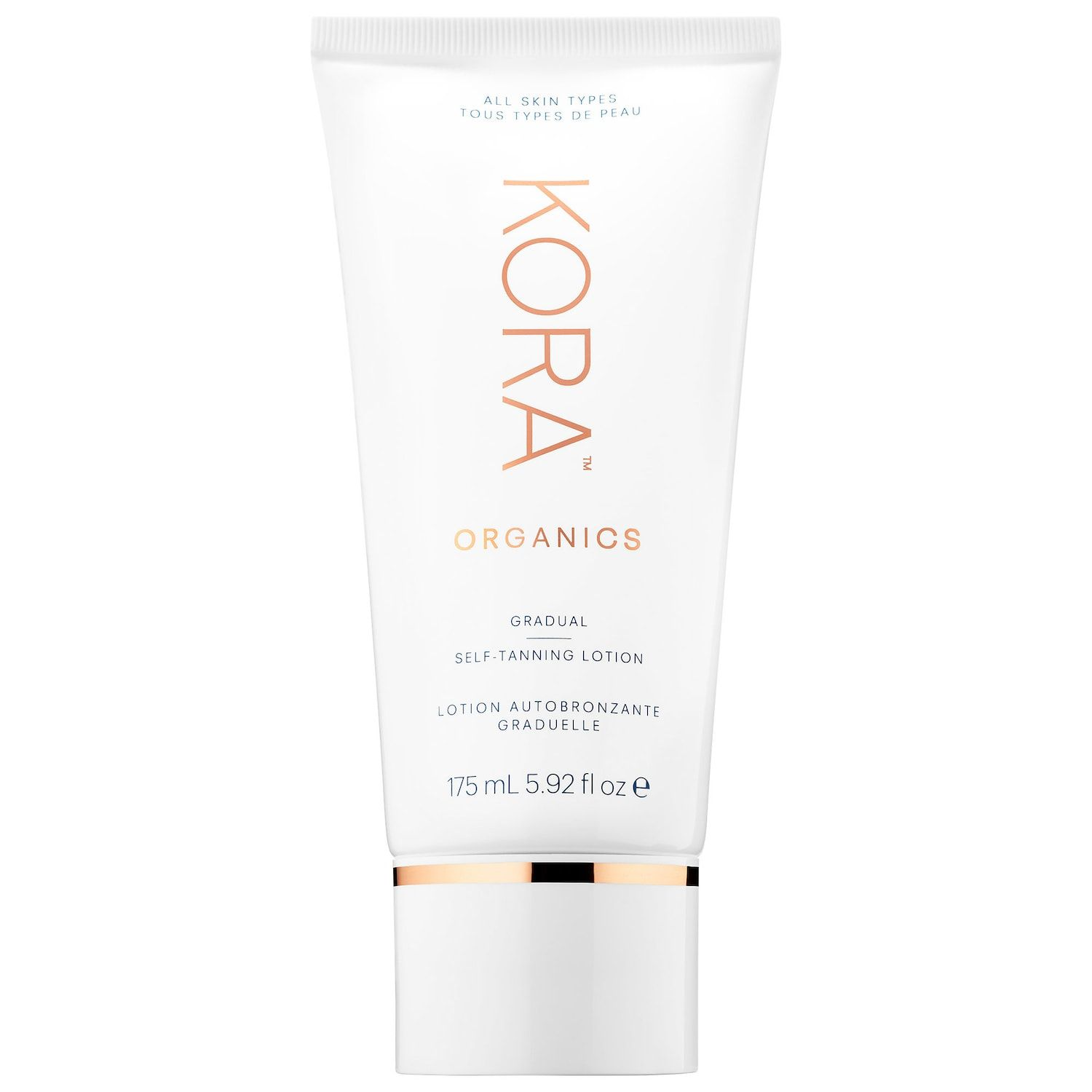 The Organic Option Gradual Self-Tanning Lotion Kora Organics sephora.com $48.00 SHOP NOW If you're conscious about wanting green ingredients, count on Miranda Kerr's Kora Organics. Boosted with noni fruit extract, rosehip oil, and seabuck thorn oil to moisturize, soften, and make skin look radiant, this moisturizer gives a subtle, not drastic, color change.