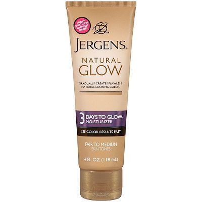 The Subtle Solution Natural Glow 3 Days To Glow Moisturizer Jergens ulta.com $8.99 SHOP NOW Get a gradual tan using this drugstore favorite that promises to get you one full shade darker sans sun in just three days.