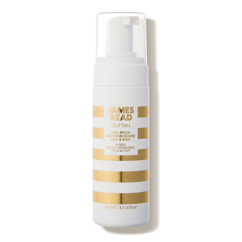 The Mousse Fool Proof Bronzing Mousse James Read Tan dermstore.com $23.00 SHOP NOW This foam adds streak-free color that could last up to seven days. It's also infused with aloe vera and cucumber for hydration.
