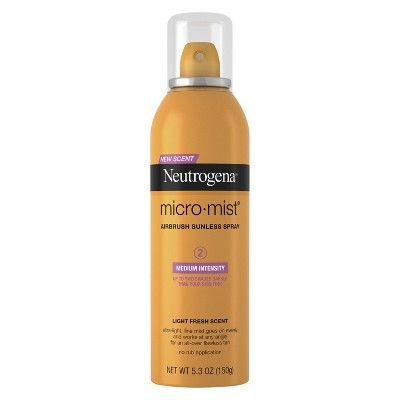The Amateur-Friendly Spray Micro-Mist Airbrush Sunless Tanning Spray Neutrogena target.com $8.29 SHOP NOW If streaky self-tanning lotion intimidates you, opt for an airbrush spray for an easier to achieve even application. This particular mist aims to get you up to two shades darker, and can be sprayed upside down for hard-to-reach nooks and crannies.